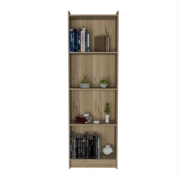 Brooklyn Bleached Pine Effect fixed shelf bookcase